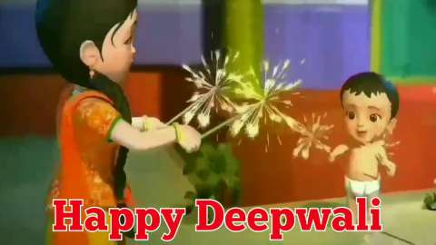 Diwali Aayi Khushiya Layi Patakhe Fodo Status