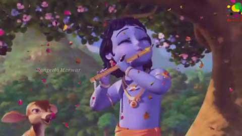 Krishna Bansari Cartoon Gm