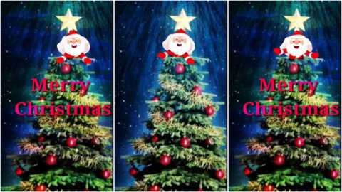 Full Screen Merry Christmas Greeting