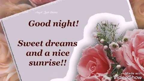 Good Night Sweet Dreams And Nice Sunrise
