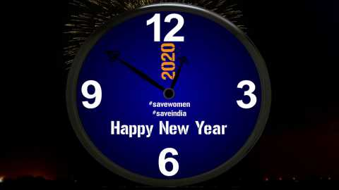New Meaning Clock Countdown Happy New Year